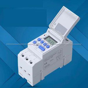 Бесплатная доставка TTHC15A AC 220 В 16А микрокомпьютер еженедельно программируемый цифровой ЖК-таймер переключатель времени реле управления Din Rail часы