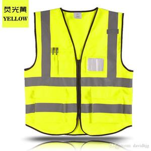 Hi Vis Weste Arbeitskleidung Kleidung Sicherheit reflektierende Weste Sicherheitsweste reflektierende Logo Druck