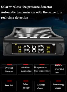 Drivworld 타이어 압력 모니터 외부 자동차 타이어 검사 모니터 LCD 디스플레이 무선 태양 타이어 압력 감지기