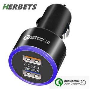 Universal Quick Charge 3.0 Fast Dual 3.1A USB Car Charger for Samsung Galaxy S8 S7 S6 Note