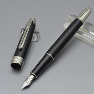 Luxury Meistersteks # 163 nero opaco Classic Fountain pen materiale scolastico per ufficio stazionario Mbt penne a inchiostro per scrivere con numero di serie