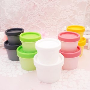 100g (50pc lot) wide mouth empty cosmetic cream containers round colored plastic tin jars for cream 3.5oz makeup cosmetics jars