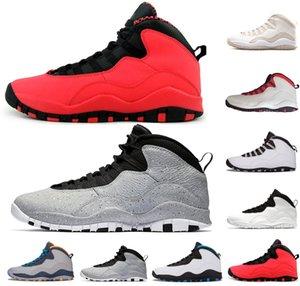 حار بيع Westbrook أحمر أزرق الاسمنت أحذية كرة السلة للرجال 10S أنا الظهر مسحوق أزرق بارد رمادي الصلب أحذية رياضية عالية الجودة حجم الولايات المتحدة 8-13