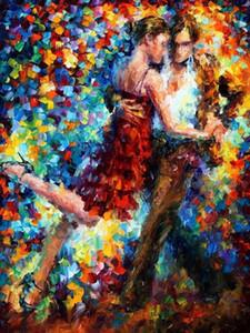 Профессиональный художник ручная роспись высокое качество нож живопись танго танцор картина маслом на холсте ручной танцор картина маслом