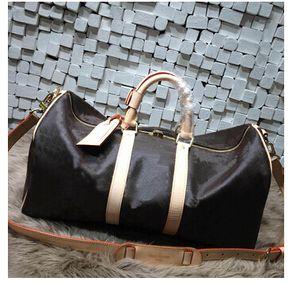 bolso de viaje de las mujeres de los hombres de la moda bolsa de viaje, diseñador de la marca bolsos de equipaje gran capacidad deporte bolsa 60 CM