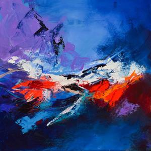 YJ ART-abstract-III- 집과 사무실 장식, 유화, 동물 그림, 프레임 페인팅을위한 Unframed Modern Canvas Wall Art