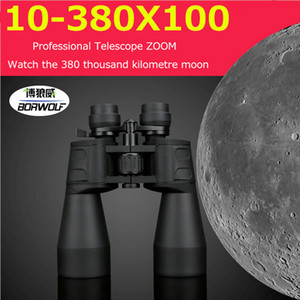 10-380X100 Telescopio professionale a lungo raggio Zoom Binocolo da caccia Campo ad alta definizione Escursionismo Night Vision Telescopio