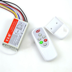 4 Ways 5 Sections Manual Digital Remote Control Switch 110V 220V Intelligent Remote Controller Smart Wireless Wall Switch for Light Lamp