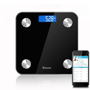 Akıllı Vücut Ölçeği Elektronik Tartı Ölçeği Dijital Tartı Kablosuz Bluetooth Temperli Cam Gövde Kompozisyon Monitörü Via App