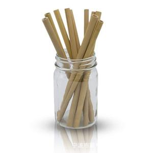 19.5cm Natural Bamboo Straws reusable Bamboo Drinking Straw Reusable Eco Friendly Handcrafted Natural Drinking Straws DHL