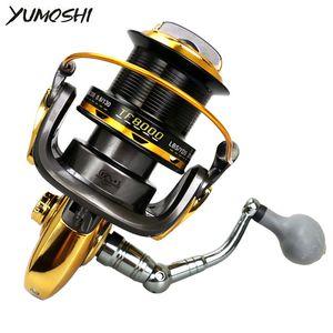 Yumoshi Sea Fishing Reel 12BB + 1RB 서핑 캐스팅 낚시 릴 해수 용 원거리 휠 8000/11000 시리즈 드래그 낚시 릴