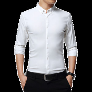 2018 Spring New New Fashion Casual Slim Fit Men Shirt 100% Cotton Solid Color Mens Dress Shirts Men Clothes Camisa Masculina