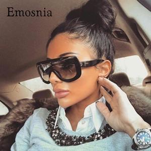 Emosnia 2017 Lady Big Square extragrandes Sunglasses Mulheres Homens celebridade UV400 Vintage Sun Óculos Feminino Oculos