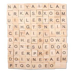 Legno Scrabble Lettere alfabeto Scrabble Piastrelle Nero Lettere per Artigianato Legno Bomboniere Lotto ScrapBooking Partito Crafting Gioielli