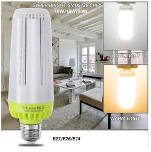 Светодиодные лампы E27 E26 E14 Нет стробоскопический мозоли СИД лампы 10W 15W 20W AC85-265V супер яркий энергосберегающий свет для внутреннего освещения