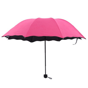 The Lotus Leaf Side All Weather Umbrella Blossom In Water Ultraviolet Proof Three Folded Umbrellas Originality Sunshade Good Quality 9 2hr W