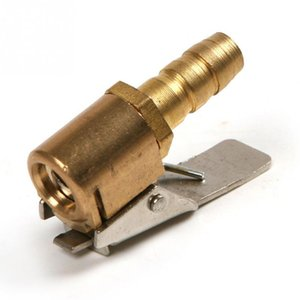 6mm 8mm New Hot Sale 1 4'' Portbale Car Tire Tyre Inflator Valve Adapter Brass Air Chuck 8V1 Copper