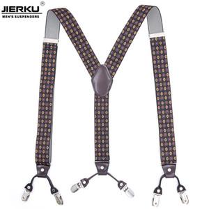 6 Klipler İnsanın Suspenders Braces Elastik Suspenders Yetişkin sapanlar Moda Bretels Suspensorio Tirantes Hombre Bretelles