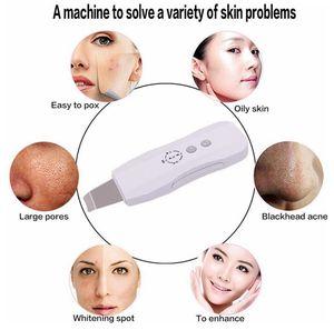 Portable rechargeable par ultrasons ultrasons peau Scrubber Machine de beauté Peeling Solution Équipement du visage Spa Salon de l'acné Enlèvement des rides