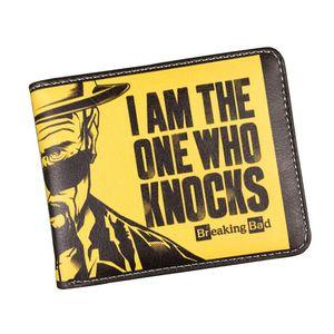 Portafoglio classico americano del fumetto del fumetto che rompe il portafoglio divertente difettoso degli uomini Portafoglio con il supporto dello studente del supporto di carta della tasca della moneta della chiusura lampo