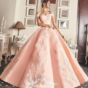 Charming Bodice Long Prom Dress Sexy Petals Beads Applique Ball Gown Lace-Up Evening Dress Glamorous Saudi Arabia Princess Quinceanera Dress