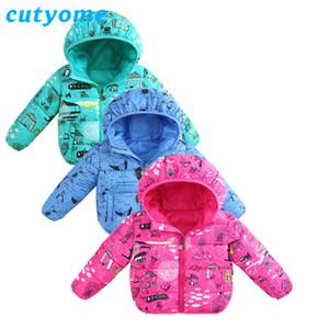 Мальчики девочки зимние куртки пальто Cutyome животных хлопок-мягкий теплый Детская одежда Детская одежда толстовки верхняя одежда пальто