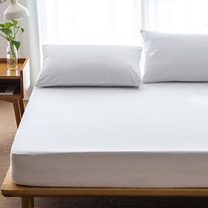 OUTAD Komfortable Große Größe Baumwolle Matratzenbezug Einfarbig Wasserdicht Staubdicht Matratzenschoner Bettdecke Für Matratze