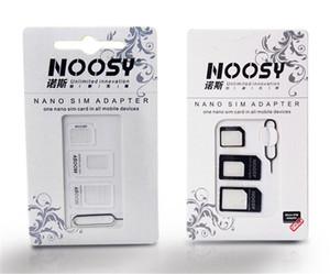 Хороший адаптер NOOSY качества с выталкивающим штифтом 4в1 NOOSY Nano Micro Standard Sim Card Convertion конвертер для сотового телефона Samsung