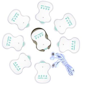 Patch de massage de physiothérapie de choc de 8pcs + câbles électriques - garnitures médicales à thème de jouets, accessoires de massager d'électro choc