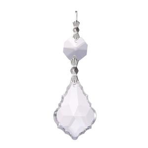 10 UNIDS Claro 38 cm Francés HERMOSA Lámpara de Cristal Cristales Prismas de la Lámpara Piezas Colgante Colgante