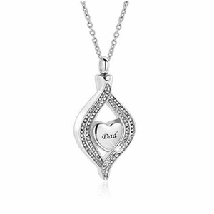 Fashion jewelry for MOM and DAD Cremation Urn Necklace for Ashes Jewelry Memorial Keepsake stainless steel Pendant