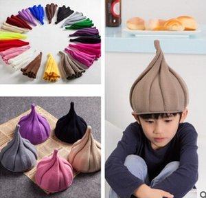 bonnet fleur chaud, bonnet pointu en laine, bonnet de laine aux mamelons, bonnet torsadé de couleur unie parent-enfant, bonnet adulte