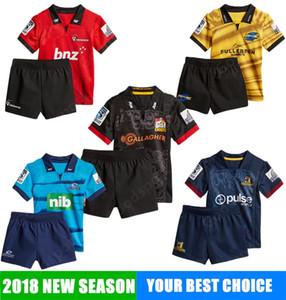 청소년 2018 뉴질랜드 럭비 유니폼 셔츠 스포츠 도매 고지 CHIEF 블루스 허리케인 Serfontein Whitelock 아이 어린이 슬레이드