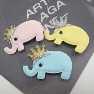 15pcs / Lot Girls Elephant Hair Clip Photo Prop Cartoon Animal Barrette con oro Silver Glitter Crown Girls Zoo Animal Hairpin