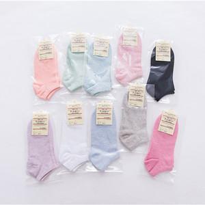 Al por mayor - 40pcs = 20 pares calcetines deportivos de las mujeres de la abertura corta color puro calcetín casual para las mujeres 10 colores envío gratis