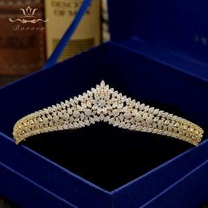 Bavoen Top Quality Korean Sparkling Brides Or Diadèmes Couronnes Full Zircon Cristal Bandeaux De Mariage De Demoiselle D'honneur Cheveux Accessoires