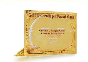 Yüz Maskesi Altın Biyo - Kolajen çamur Yüz sac Maskeleri Altın Kristal Toz Nemlendirici yaşlanma Beyazlatma Cilt Bakımı Sorunsuz güzellik