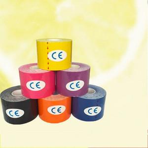 Klebstoff Muscle Sports Tape Wasserdicht Atmungsaktiv Kinesiologie Kinesio Rolle Verband Bunte Baumwolle Elastische Bänder Heißer Verkauf 6