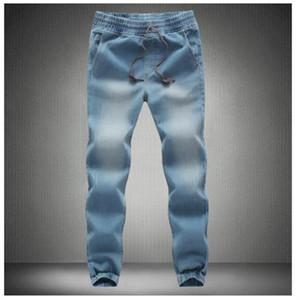 Loldeal Jeans de pierna de cierre Primavera 2018 Nueva moda Hombre Fertilizante de taxi Xl Pantalones elásticos elásticos Pies Pantalones Tide Beam Jeans