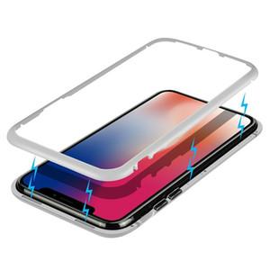 Чехол для мобильного телефона с магнитной адсорбцией, корпус с магнитной закалкой 7/8 / X, металлический противоударный и противоударный чехол для мобильного телефона