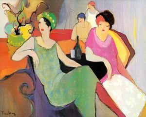 impressão arte Wall Art Prints Arte Moderna de presente por Itzchak Tarkay pintura a óleo Reprodução Imagem giclée na lona para Sala Deco
