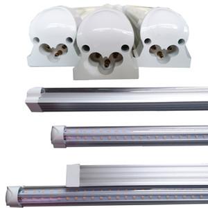 T8 Tube LED V Shape Integrate 4ft 5ft 6ft 8ft Double Side Power LED Tube Factory Price Cooler Door Lighting 100LM