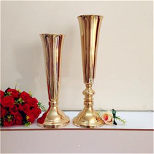 Commercio all'ingrosso a buon mercato di nozze centrotavola titolare centrotavola, in ferro battuto candelabri in piedi, matrimonio oro candelabri best0070