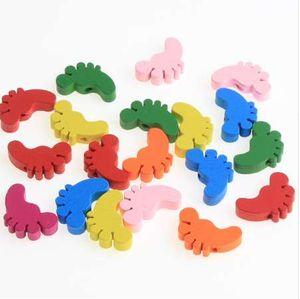 50pcs pés de madeira Spacer Beading Beads para Bebês Brinquedos Chupeta Clipe Colar Pulseira DIY jóias encontrar madeira Bead