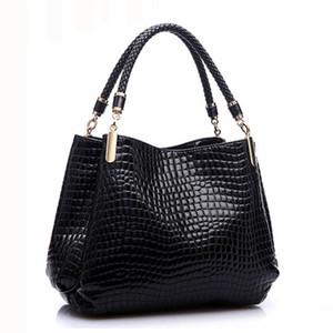 Diseñador Alligator Bags Mujer Bolsos de Cuero Marca Española Señoras de Lujo Bolsos de Mano Bolsos de Hombro de Moda Negro Bolsos Sac 2016 D18101303