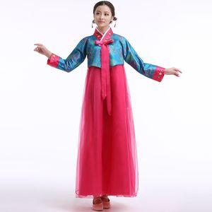 Traditionnel coréen Hanbok Femmes National Vêtements Fille Costume De Scène Cosplay Performance Porter Robe De Danse Folklorique