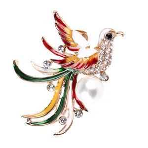 Peacock Broche Phoenix Oiseau coloré Pin Broches Mode femme mariée Manteau de mariée Vêtements Accessoires Filles Bijoux Pins cadeau