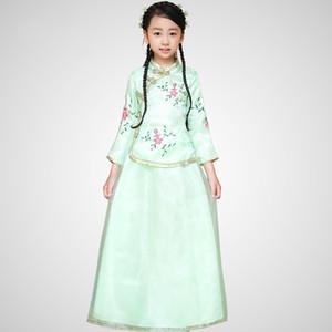 Nuevos Niños Traje Tradicional Chino Top + falda 2 Unids Chica Chino Traje Hanfu Princesa Performance Dance Clothing 18