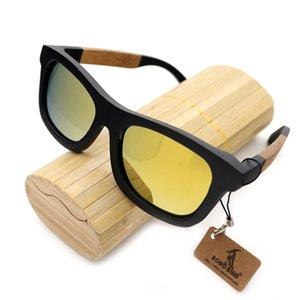 BOBO VOGEL BG021 Handgemachte Gläser Bambus Holzrahmen Und Bunte Polarisierte Linse Sonnenbrille Frauen Männer UV Schutz Drop Shipping