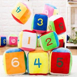 Presentes colorido Stuffed Plush Número Alfabetização Digital Aprendizagem Dice boneca crianças cedo Brinquedos Educativos aniversário Jogos engraçadas do presente